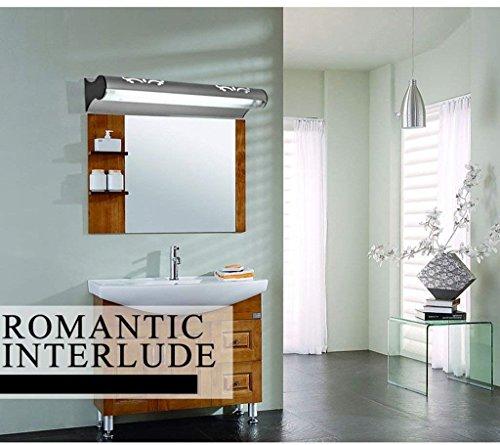 Wall lamp LED Miroir Cabinet Lampes Spéciales, LED Miroir Phare Salle De Bains Miroir Lumière Trou Réglable Distance Changement Fluorescent Tube avec Commutateur,Lumière blanche-10w / 57cm
