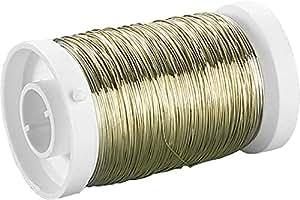 Knorr Prandell 6465749 fil métallique 150 m/Ø 0,3 mm, couleur laiton