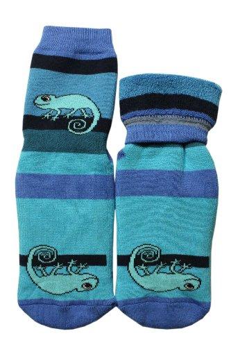 Weri Spezials Baby-Unisex Terry ABS Rabbit Slippers Anti Non Slip Socks Violet