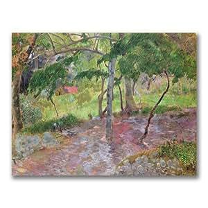 Trademark fine art Tropical Landscape, Martinique par Paul Gauguin sur toile Décoration murale, 18 by 24-Inch