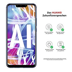 Huawei Mate20 lite Dual Nano-SIM Smartphone BUNDLE (16 cm (6.3 Zoll), 64 GB interner Speicher, 4GB RAM, 20MP + 2MP Kamera, Android 8.1, EMUI 8.2) Sapphire Blue [Exklusiv bei Amazon] - Deutsche Version