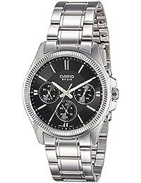 CASIO MTP-1375D-1 - Reloj con movimiento cuarzo, para hombre, color negro y plateado