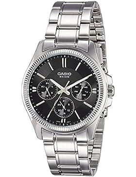 CASIO Herren-Armbanduhr Analog Quarz Edelstahl MTP-1375D-1