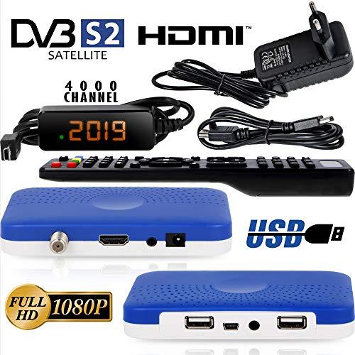 hd-line HD-90 Mini Sat Receiver -DVB S/S2 Satelliten Receiver ✓Full HD ✓1080 P ✓HDMI ✓2 x USB 2.0 ✓HDTV [Digital Satelliten Receiver] ️{Astra Hotbird Türksat }️