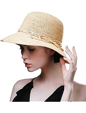 SIGGI–Disquetera paja sol sombrero verano accesorios de playa ala ancha hecha a mano