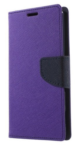Delkart Wallet Flip Cover for Samsung Galaxy J2 (Purple)