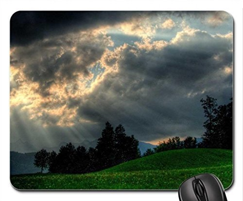 sunbeams-over-green-hills-mouse-pad-mousepad-sky-mouse-pad