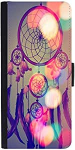 Snoogg Dream Catcher Digital Graphic Snap On Hard Back Leather + Pc Flip Cove...
