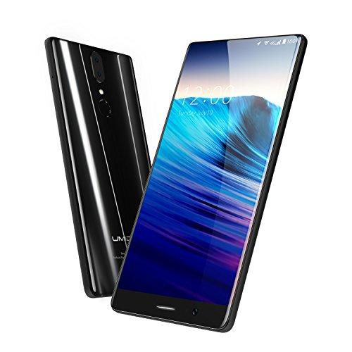 UMIDIGI Crystal Smartphone 4G, Telephone Portable Debloqué Android 7, Écran FHD 5.5 Pouces, Double SIM,Capteur d'empreinte digitale arrière, 4Go RAM + 64Go ROM, Caméras SAMSUNG 13 + 5 MP (64GB)