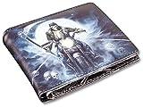 Herren Gothic-Geldbörse Reaper Biker - Hell Rider | Fantasy-Geldbeutel, mehrfarbig