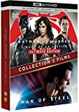 BATMAN VS SUPERMAN / MAN OF STEEL - Coffret 2 Films - Blu-Ray 4K - DC COMICS