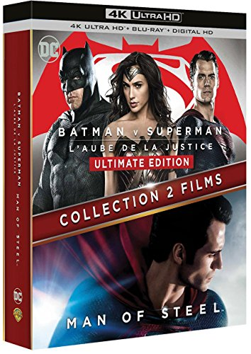 Coffret batman / superman 2 films : batman V superman : l'aube de la justice ; man of steel 4k ultra hd