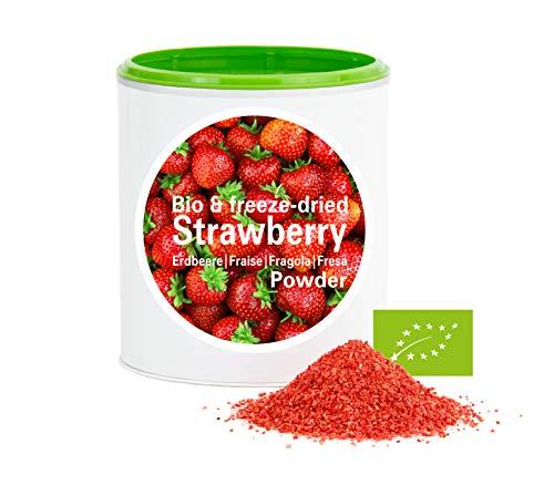 Erdbeerpulver - Bio Erdbeere gefriergetrocknet |bio organic| freeze-dried strawberry| good-superfruit von good-smoothie| 100% frucht |ohne zusatzstoffe + viele Inhaltsstoffe| 120g