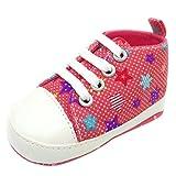 Zapatos para bebé, Culater Patucos de Colorido Niñas Niños 0~18 meses (3~6 Meses, Fiesta)