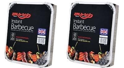 2 X Bar-Be-Quick-Schnell Grill-Packs Jede Packung Feeds zu 4 Personen-Welt beste Marke führenden Einweg-Grill