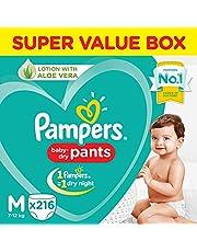 Pampers New Diaper Pants Super Value Box, Medium (Pack of 216)
