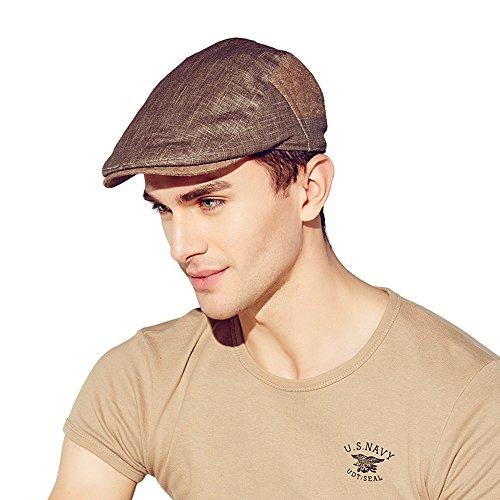 Kenmont été hommes homme gavroche casquette de chauffeur de taxi de pointe pare-soleil lierre chapeau (café)