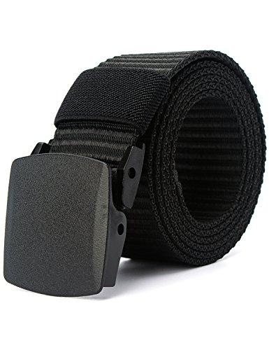 MinYuocom Hombre Cinturón Prevenir Alergia Nylon Lona Militar Táctico Plástico Hebilla MPD90101