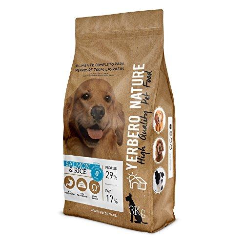 Yerbero NATURE Salmon & Rice, pienso hipoalergenico para perros - SIN Gluten...