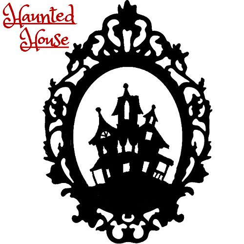Halloween Gothic Haunted House Haus Silhouette Sticker Aufkleber Wall Window Home Vinyl Abziehbild Decal