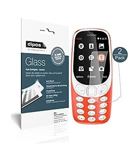 Nokia 3310 Pellicola Protettiva - 2x dipos Glass Protezione Vetro Flessibile 9H