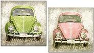 Cuadros decoración madera Volkswagen Escarabajo 24x24x7 para decorar el baños la cocina el dormitorio rincones