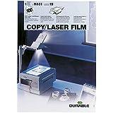 Durable 833119 Film Transparent Format A4 Imprimable Laser pour Rétroprojection ou Tracé Manuel Boite de 100