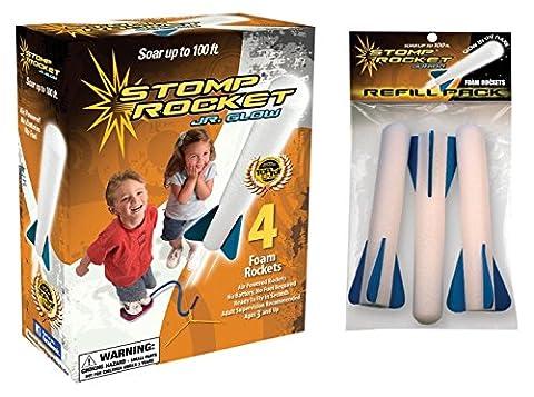 Stomp Rocket Junior Glow Kit with Extra Jr. Glow Rocket
