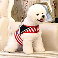 Pets Empire Navy Style Adjustable Soft Breathable Pet Cat Dog Harness Mesh Vest Harnesses for Leads Puppy Cat Collars…