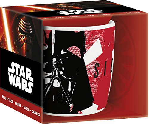 Star Wars Dreaming - Taza de porcelana, color blanco y rojo