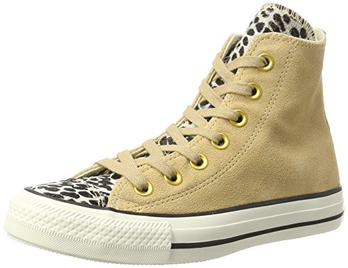 Converse Ctas Hi Light Fawn/Black, Sneaker Alte Unisex - Adulto Mehrfarbig (Light Fawn/Black/egret)