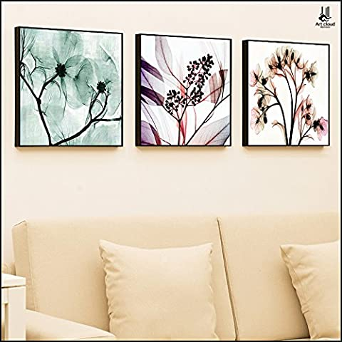 Cómo usar LEMMA La sala es moderna y minimalista sofá pintura mural se cuelgan en el dormitorio ,60*60_black frame
