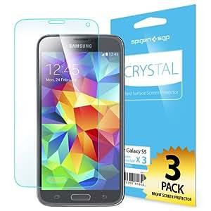 Spigen Protecteur d'écran pour Samsung S5 Steinheil LCD FiLM [Crystal CR] - Screen Protector pour Samsung Galaxy S5 / SV / SGS5 (SGP10722)