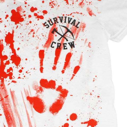 Darkside Men-Shirt SURVIVAL CREW white White