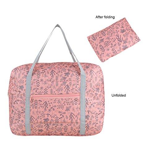 Sumolux Faltbar Reisetasche Sporttasche Handgepäck für Sport Reise am Wochenend Urlaub Rot