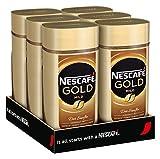 NESCAFÉ Gold Mild, löslicher Bohnenkaffee aus erlesenen Arabica-Kaffeebohnen, Instant-Pulver, koffeinhaltig & aromatisch, 6er Pack (6 x 200 g)