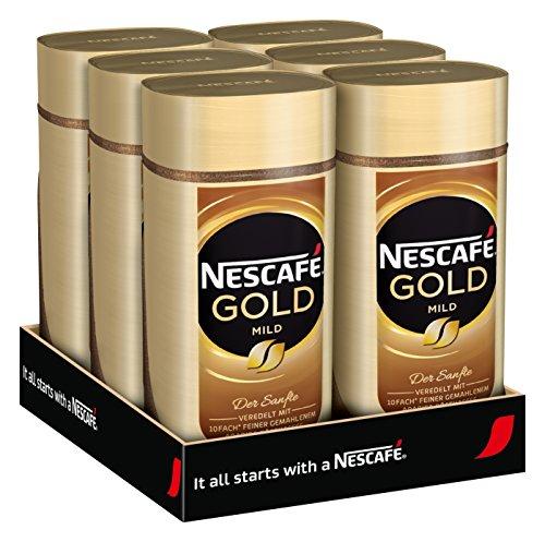 NESCAFÉ Gold Mild, löslicher Bohnenkaffee aus erlesenen Arabica-Kaffeebohnen, Instant-Pulver,...