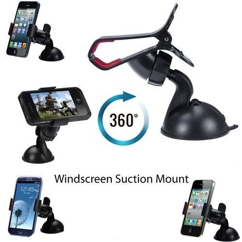 Ingenious Universal Mobile Phone PDA In Car Windscreen Suction Mount Holder Cradle Stand for iPhone 5 5S 5C 4 2 3 3G 3Gs 4 4S Samsung S5 S4 S3 Note 3 2 I9100 S5830 Htc NEXUS 7 all discerning phones and GPS devices up to 100mm screens by G4GADGET®