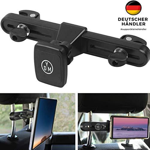 Magnet Tablet Halterung für die Kopfstütze, kompatibel bis einschließlich 13 Zoll, Kfz Tablet Halterung, Tablet Halterung Auto Kopfstütze, Kopfstützenhalterung, Kompatibel mit iPad Pro 12.9