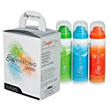 eeddoo Easypiercing - Pflegeset - 3X 50 ml - 20 Kompressen (Piercing Pflege Spray Care Tattoopflege)