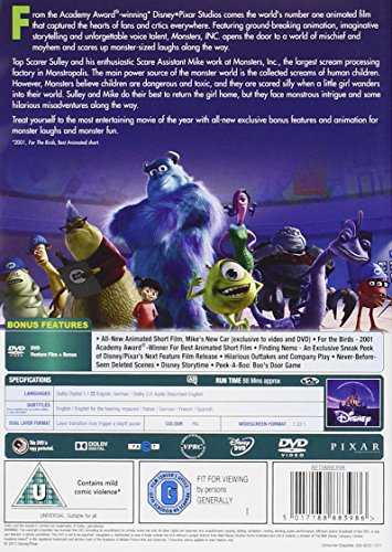 Image of Monsters Inc. [2002] [DVD]