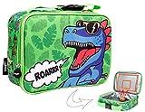 Fringoo, sac à déjeuner pour garçon, sac isotherme pour enfants, école, crèche, pique-nique, nourriture, Roarrr Dinosaur, L25 x H19 x W9 cm