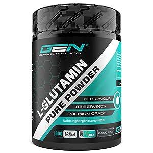 L-Glutamin Pulver – 750 g – Ultra hohe Reinheit ohne Zusätze – Laborgeprüft -100% micronized L-Glutamine Aminosäure – Unlflavoured Neutral – German Elite Nutrition