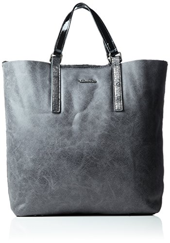 Tamaris Damen Amber Shopping Bag Henkeltasche, ((graphite comb.) 11x38x33 cm