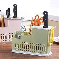 TQWMU® New Multifunction Kitchen Storage Rack Dish Self Draining Sink Chopsticks Shelf Knife Holder Kitchen Accessories Organizer
