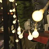 13M 100 LEDs Catena Luminosa Bianco Caldo, SF 8 modalità Led Luci Stringa, LED Ghirlanda, Luci Decorative con adattatore di alimentazione spina europea, luci per interni ed esterni, anche per Festa, Giardino, Natale, Halloween, Matrimonio