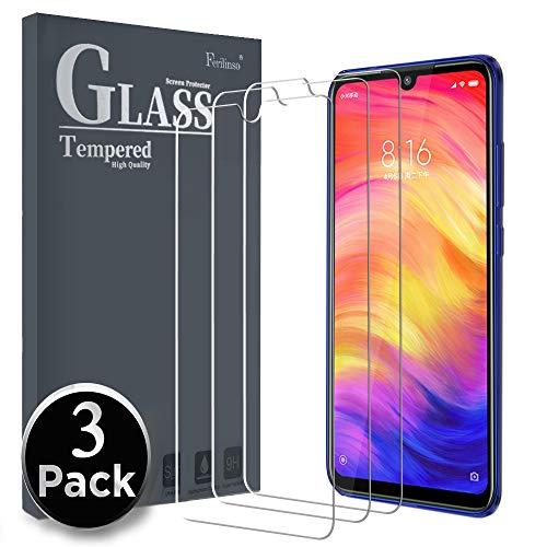 Ferilinso Panzerglas Schutzfolie Kompatibel mit Xiaomi Redmi Note 7/ Xiaomi Redmi Note 7 Pro, [3 Pack] Gehärtetes Glas Displayschutzfolie mit Lebenszeit Ersatzgarantie (Transparent)