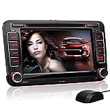 XOMAX XM-04G Autoradio passend für VW / SKODA / SEAT mit GPS Navigation, NAVI Software, Bluetooth Freisprecheinrichtung, 18 cm / 7 Zoll Touchscreen Bildschirm, DVD CD Player, USB und SD, 2 DIN