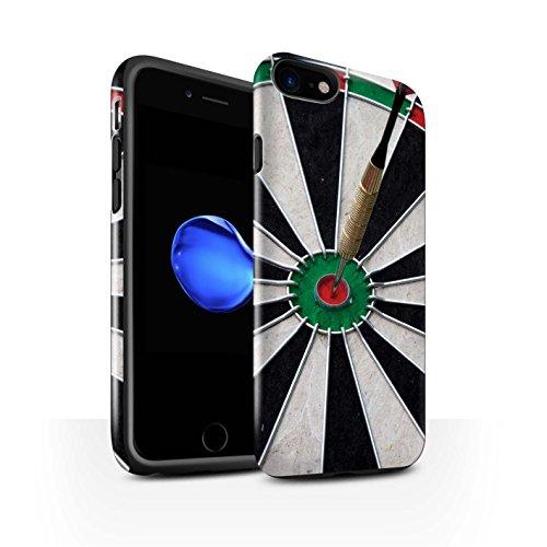 STUFF4 Glanz Harten Stoßfest Hülle / Case für Apple iPhone 8 / Dartflug Muster / Darts Foto Kollektion Bull/Bullseye