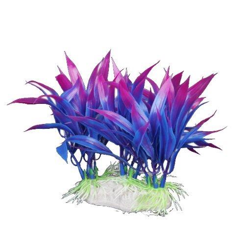 12cm Kunststoff Aquarium Pflanzen ornament für Fisch Tank – lila + blau